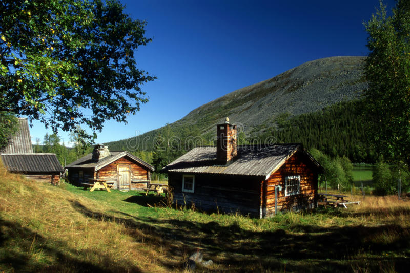 Cabin in mountain royalty free stock image
