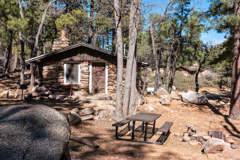 Amazing Download Cabin Number One, Hualapai Mountain Park Stock Photo   Image Of  Camp, Arizona