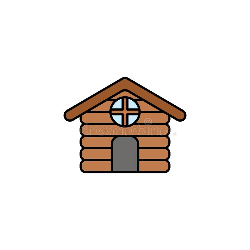 Cabin vector icon sign symbol vector illustration