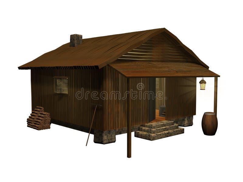Cabina acogedora stock de ilustración