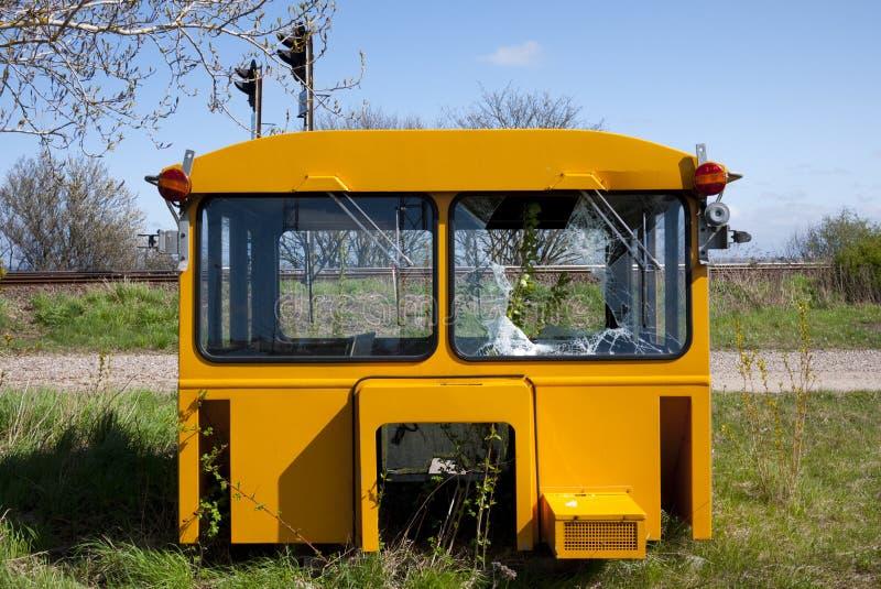 Cabina averiada del tren foto de archivo libre de regalías