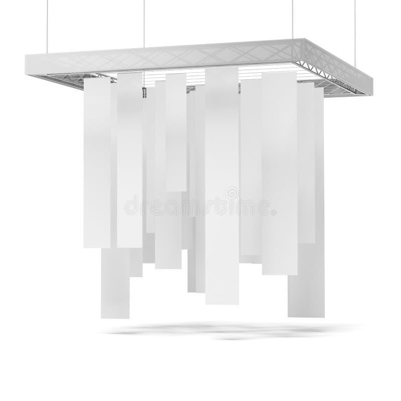 Cabina commerciale di mostra di bianco illustrazione di stock