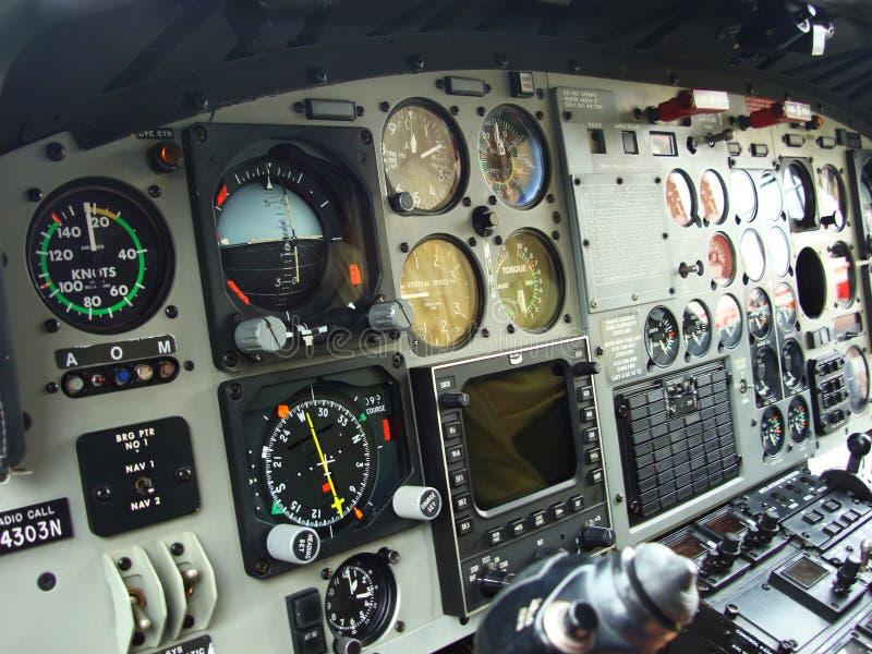 Cabina de aviones fotografía de archivo