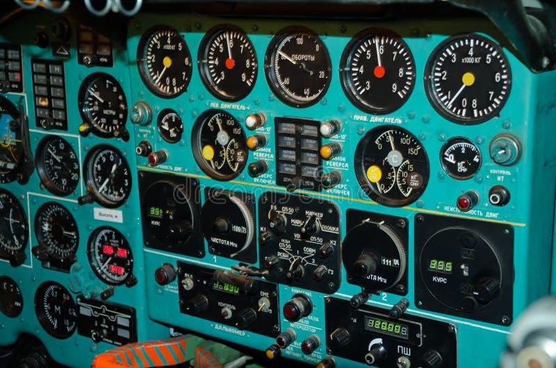 Cabina de aviones vieja fotos de archivo libres de regalías