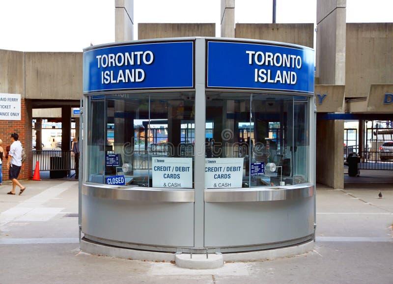 Cabina de boletos de la isla de Toronto fotografía de archivo libre de regalías