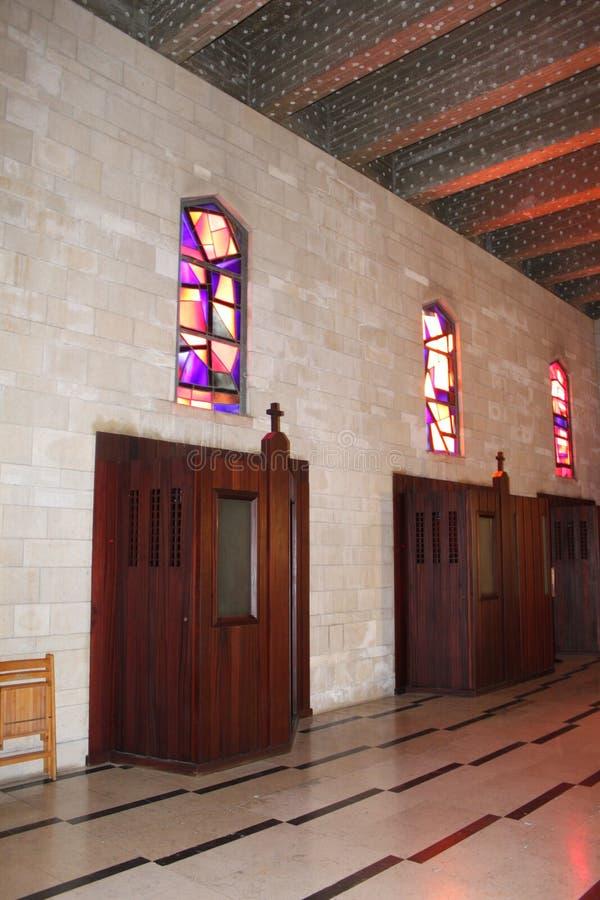 Cabina de la confesión, la iglesia del anuncio, Nazaret, Israel fotografía de archivo libre de regalías