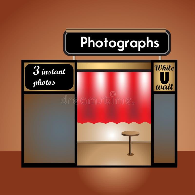Cabina de la foto ilustración del vector