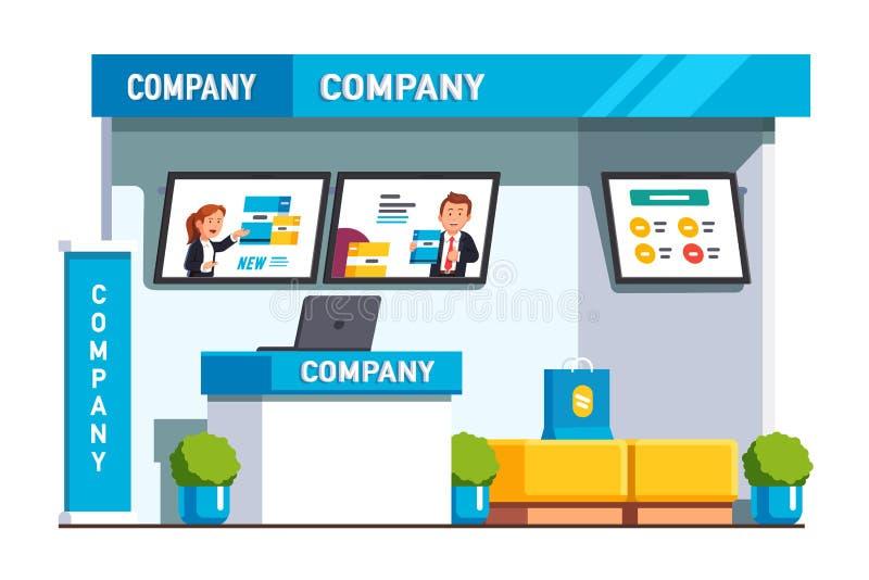 Cabina de la presentación del producto de la exposición del negocio libre illustration