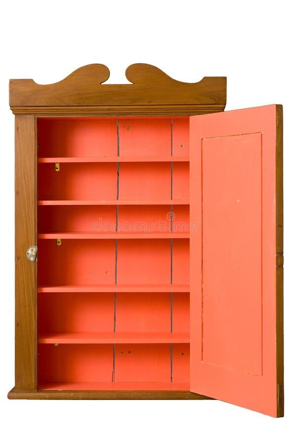 Cabina de madera antigua con la puerta abierta imagen de archivo libre de regalías