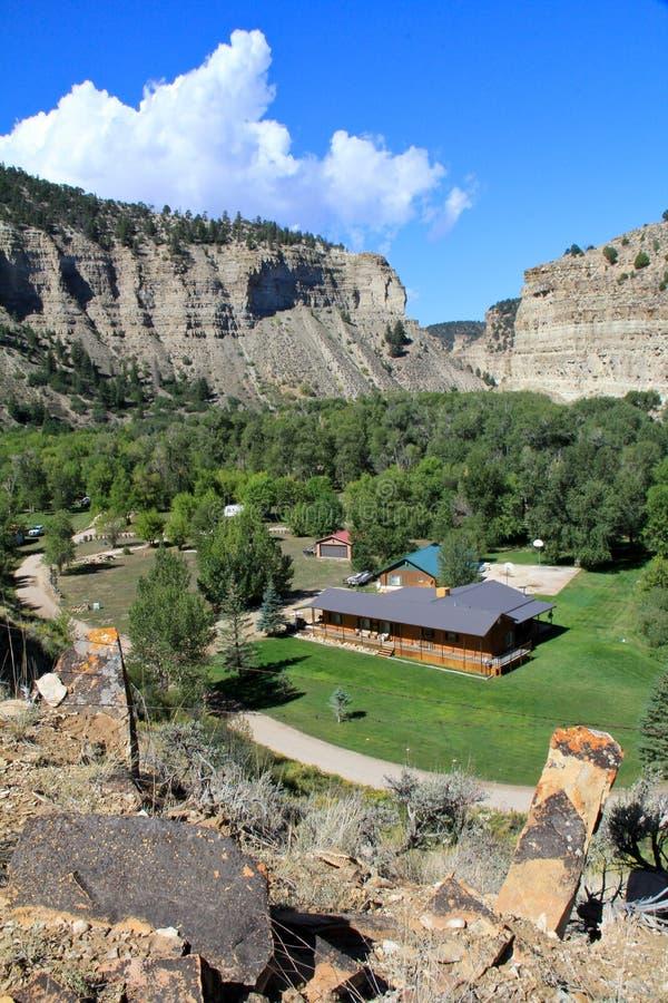 Cabina de registro en Utah fotografía de archivo libre de regalías