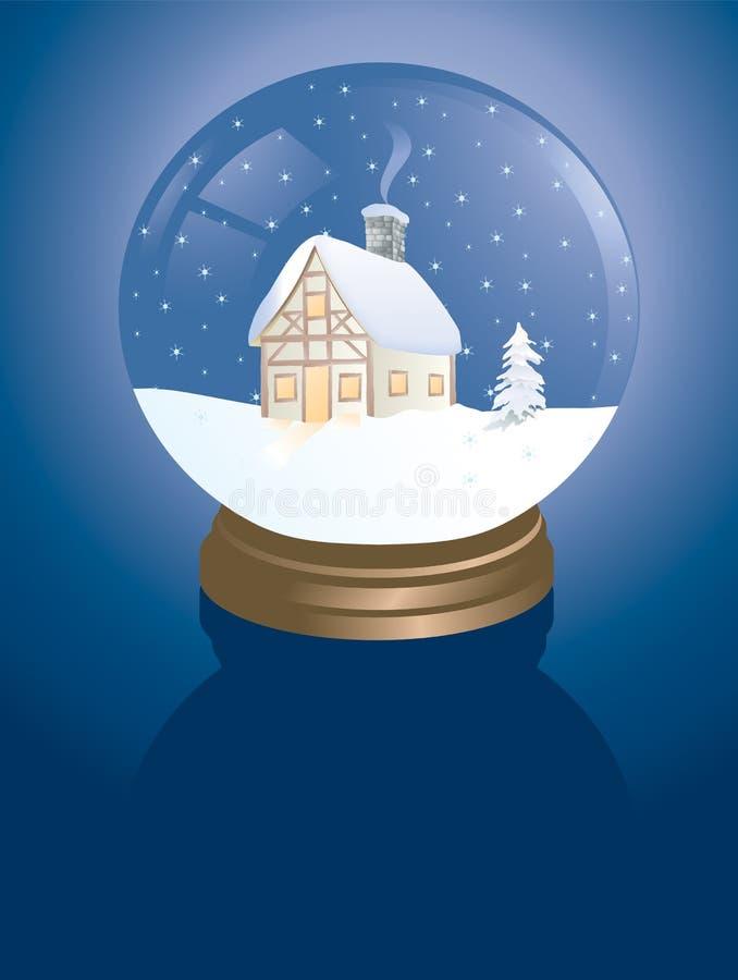 Cabina de Snowglobe fotografía de archivo libre de regalías