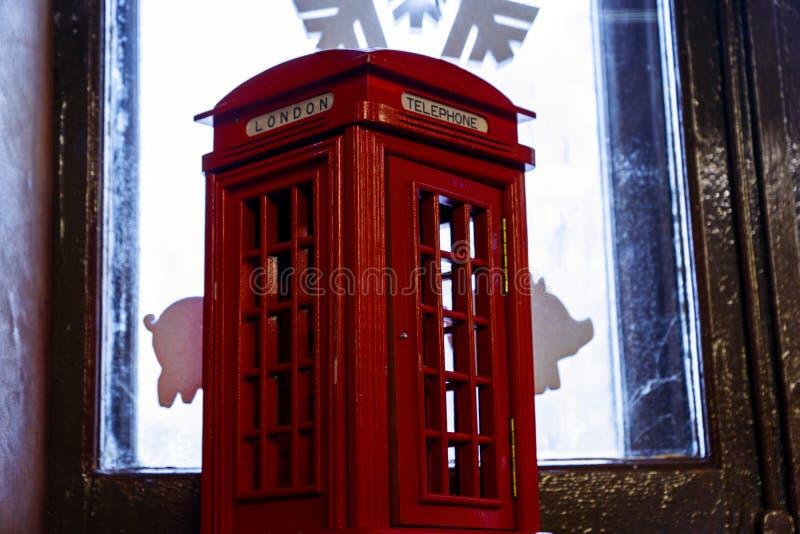 Cabina de teléfono de Londres imagen de archivo