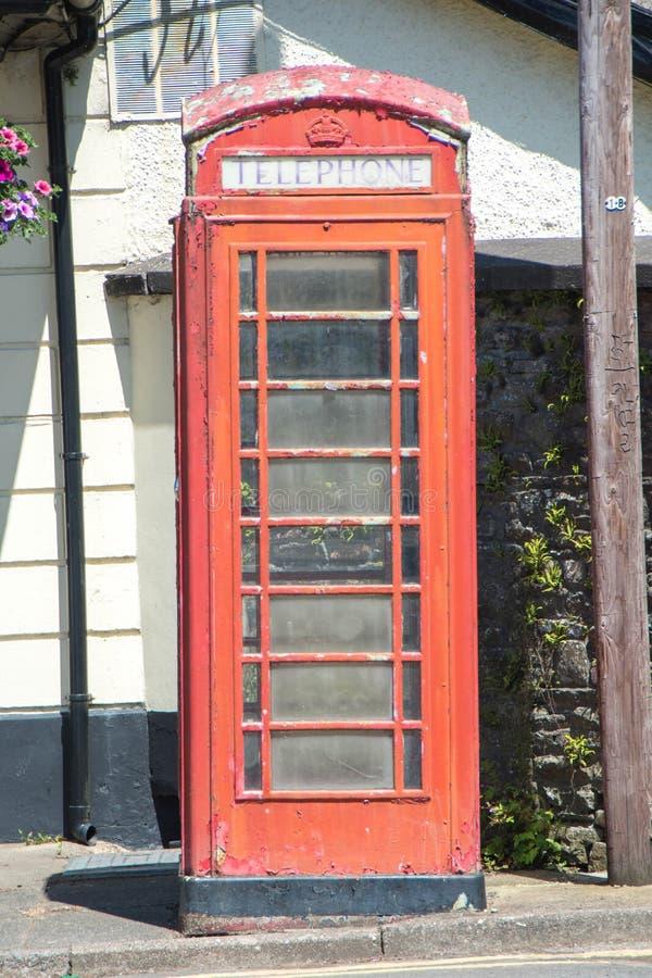 Cabina de teléfonos del vintage foto de archivo libre de regalías