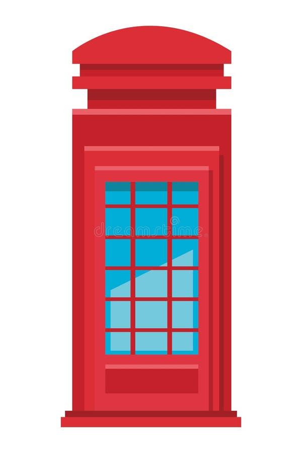 Cabina de teléfonos roja ilustración del vector