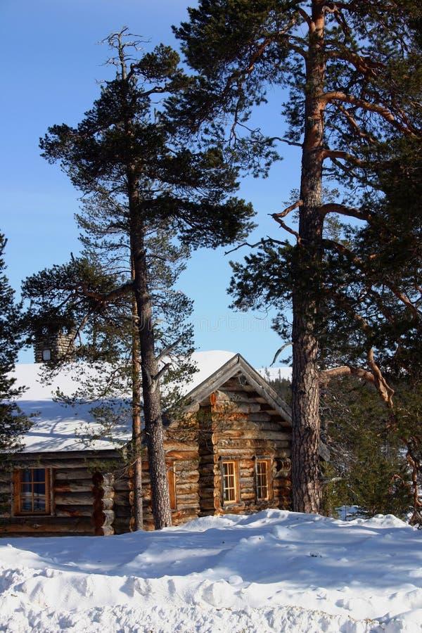 Cabina del invierno fotografía de archivo