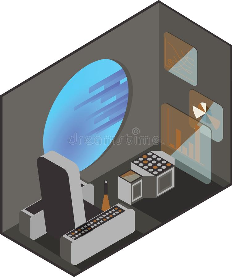 Cabina del pilota del veicolo spaziale royalty illustrazione gratis