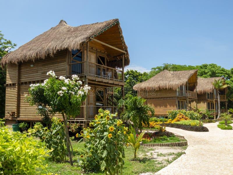 Cabina dell'hotel di località di soggiorno di lusso, viaggio immagini stock libere da diritti