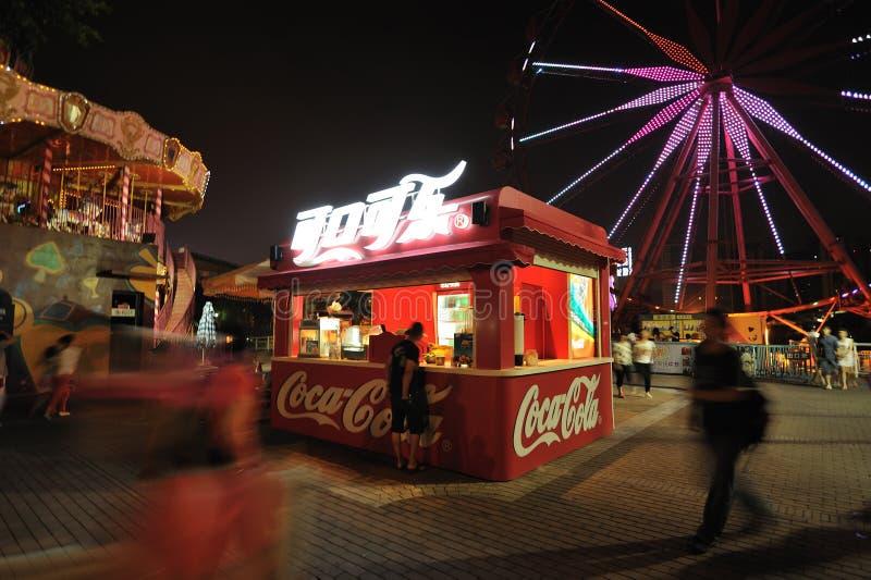 Cabina della coca-cola a Chengdu fotografia stock libera da diritti