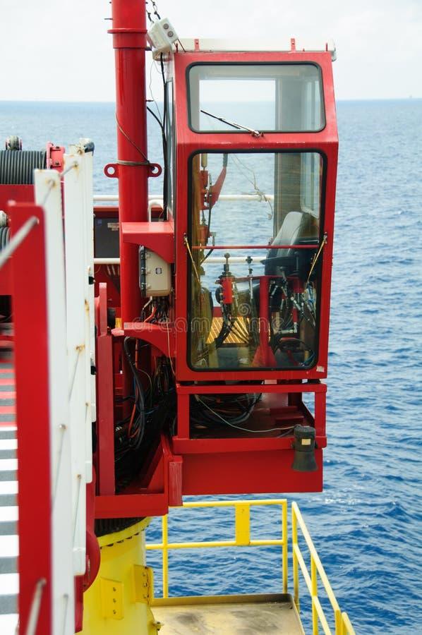 cabina della gru in piattaforma della costruzione cabina