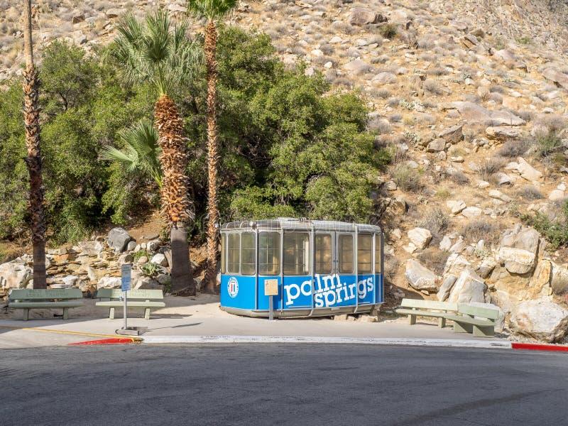 Cabina della linea tranviaria aerea del Palm Springs fotografie stock libere da diritti