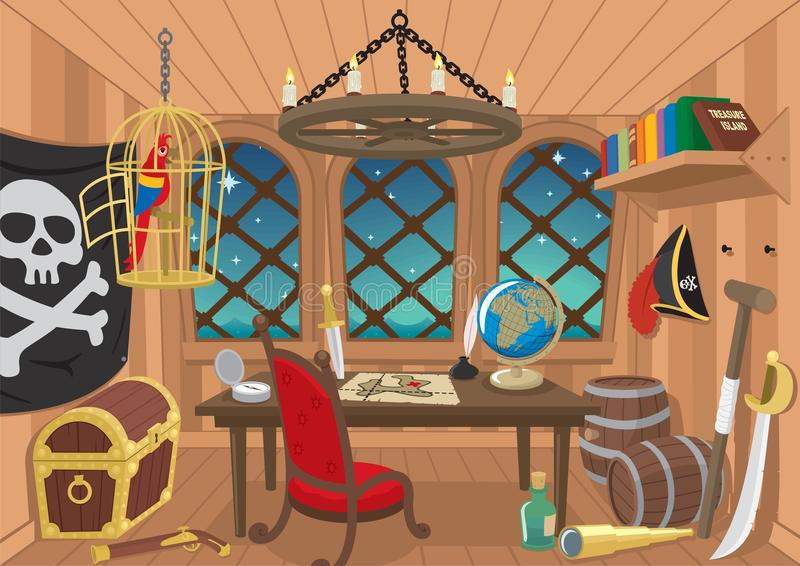 Cabina di Captainâs illustrazione vettoriale