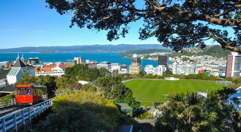 Cabina di funivia di Wellington immagini stock libere da diritti