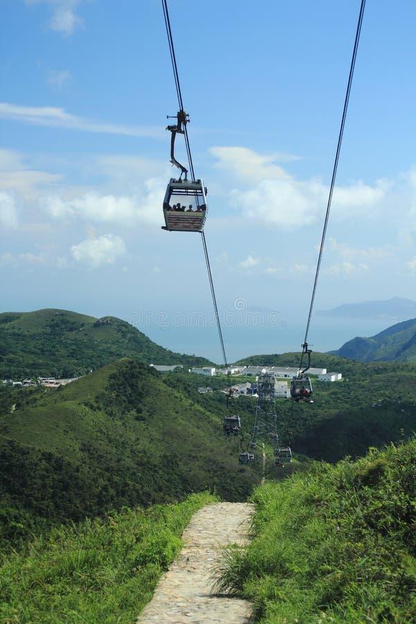 Cabina di funivia a Hong Kong immagine stock