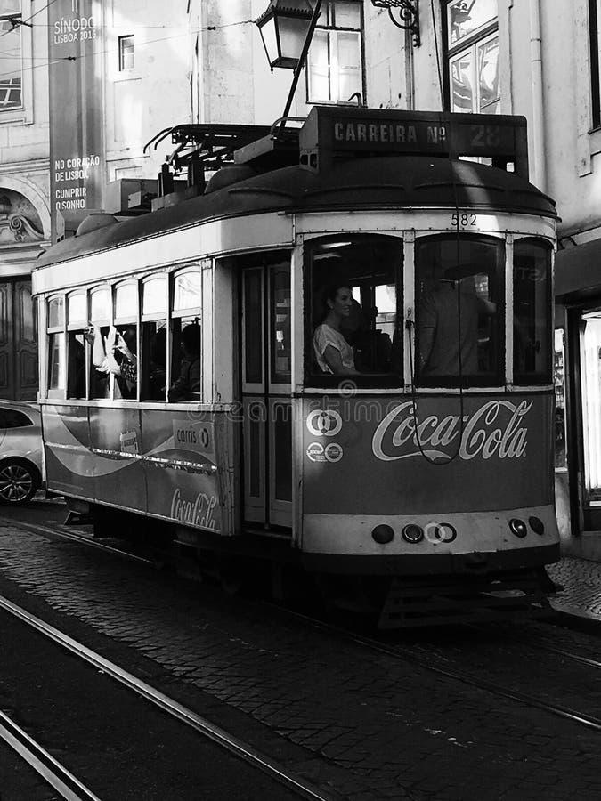Cabina di funivia a Lisbona immagini stock