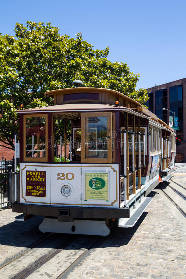 Cabina di funivia, San Francisco fotografia stock
