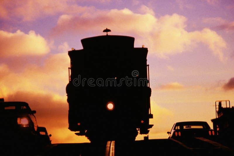 Cabina di funivia a San Francisco, CA fotografia stock libera da diritti
