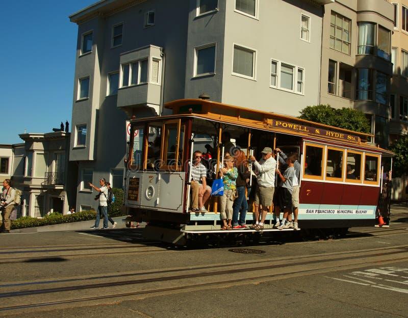Cabina di funivia in San Fransisco fotografia stock libera da diritti