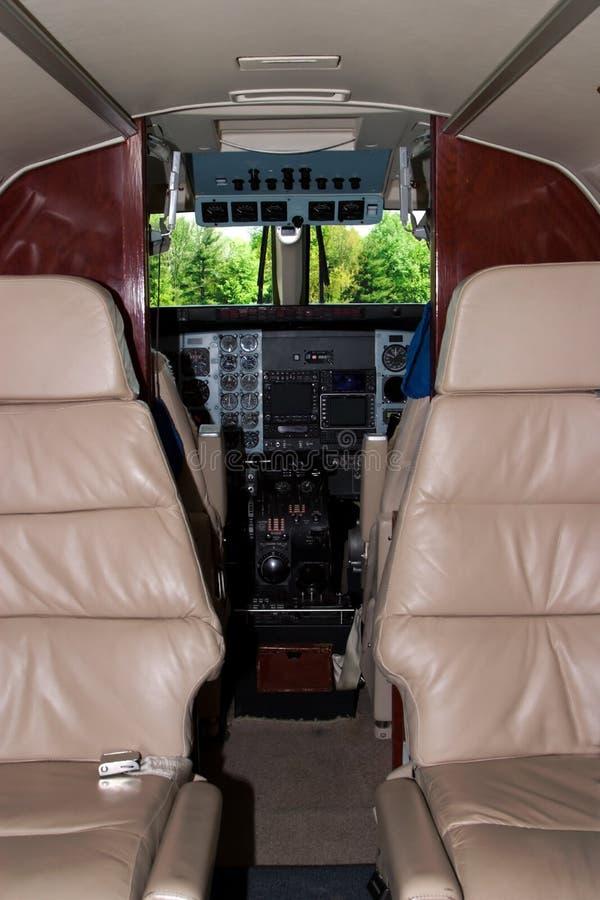 Cabina di guida dell'aeroplano fotografie stock