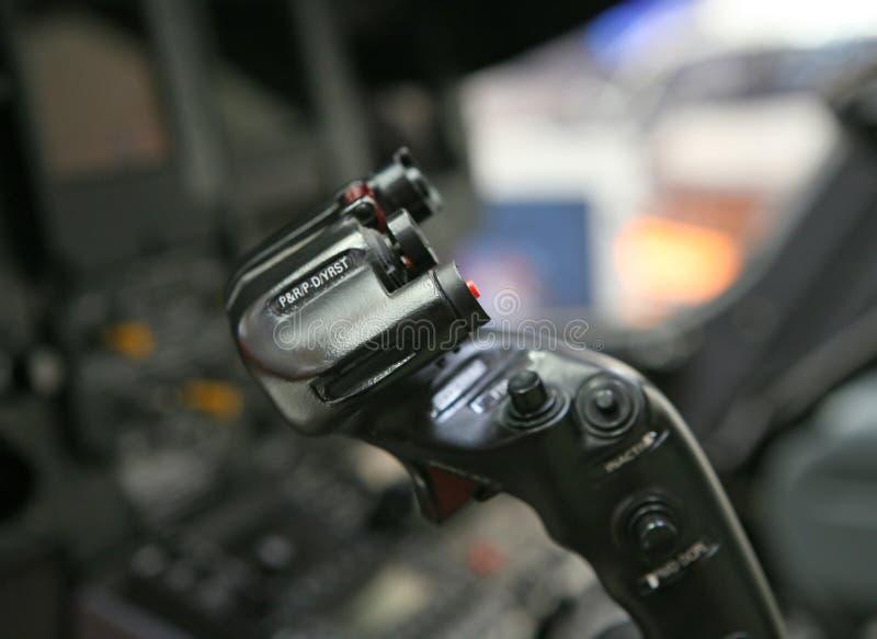 Cabina di guida dell'elicottero immagine stock libera da diritti