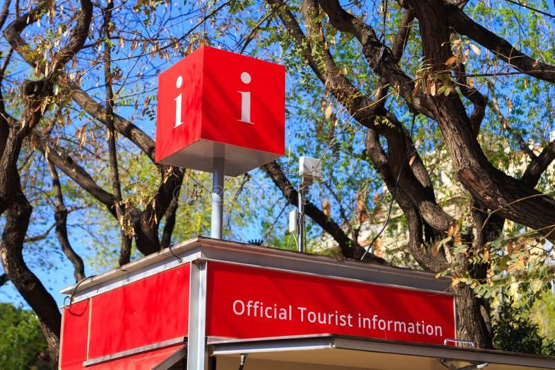 Cabina di informazione turistica immagini stock