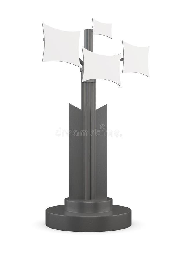 Cabina di informazioni su un fondo bianco rappresentazione 3d illustrazione vettoriale