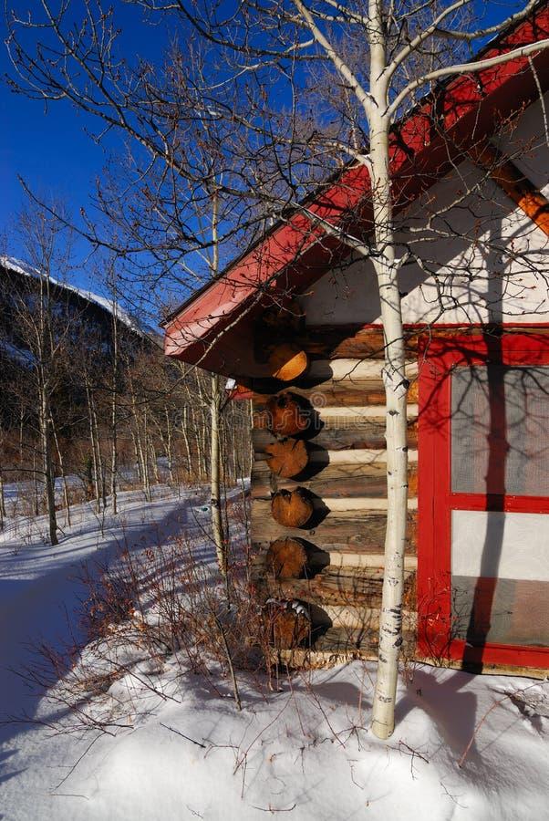 Cabina di inverno fotografia stock libera da diritti