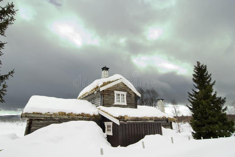 Cabina di inverno immagine stock libera da diritti