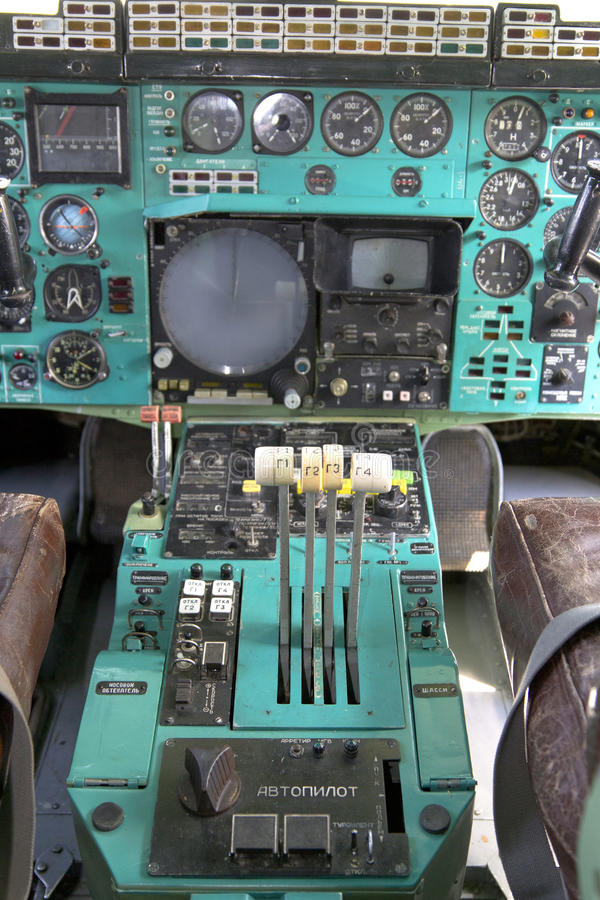 Cabina di pilotaggio dell'aeroplano immagini stock