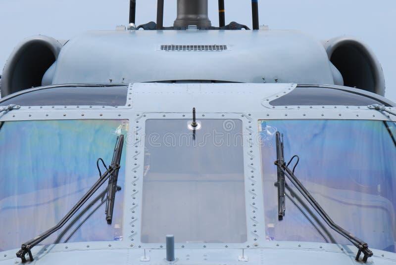 Cabina di pilotaggio dell'elicottero fotografia stock libera da diritti
