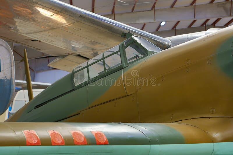 Cabina di pilotaggio di aerei d'annata fotografia stock libera da diritti