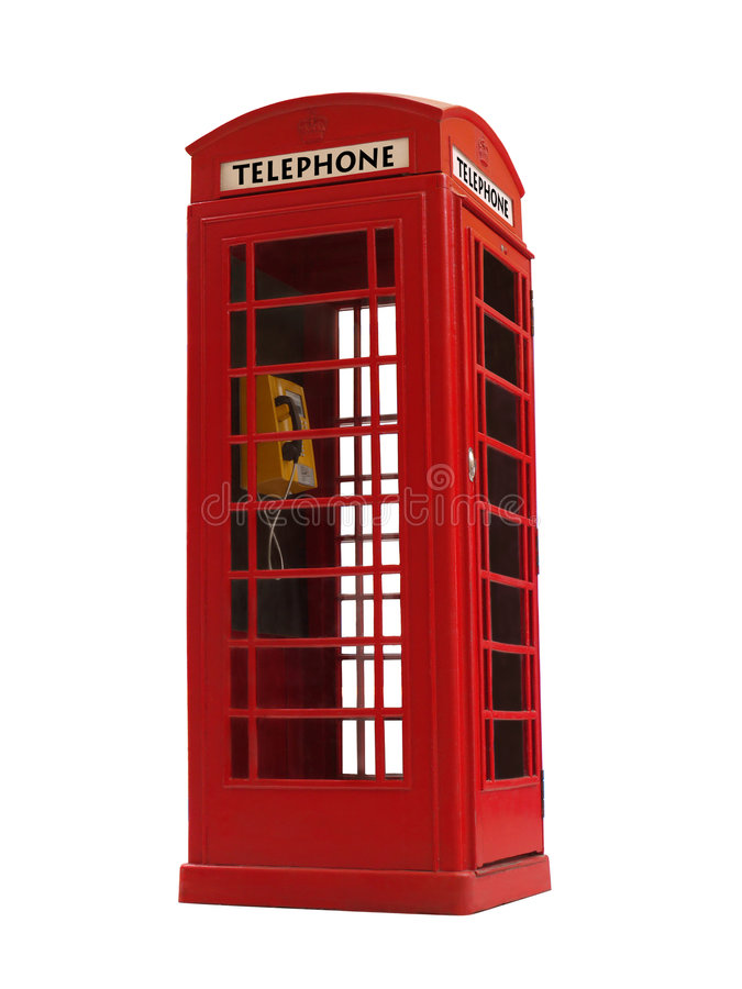 Cabina di telefono fotografia stock