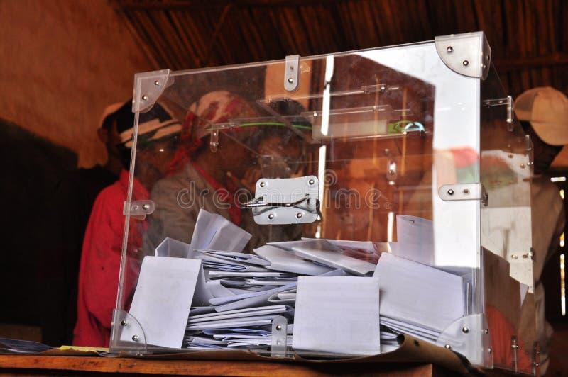 Cabina di voto nel Madagascar immagini stock