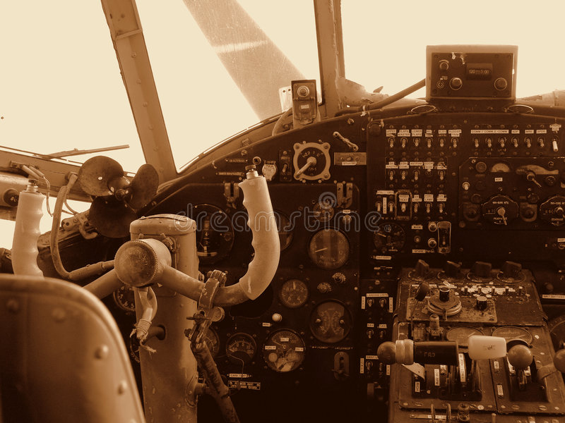 Cabina do piloto fotografia de stock