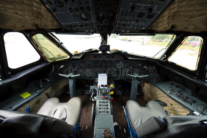 Cabina do piloto foto de stock royalty free