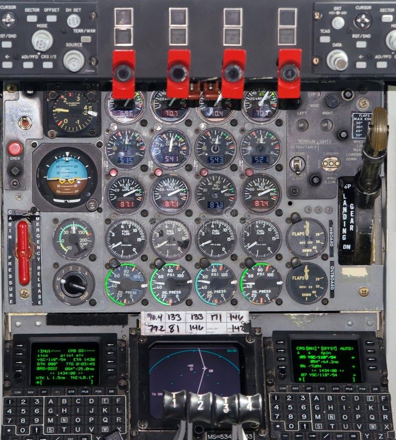 Cabina do piloto imagem de stock