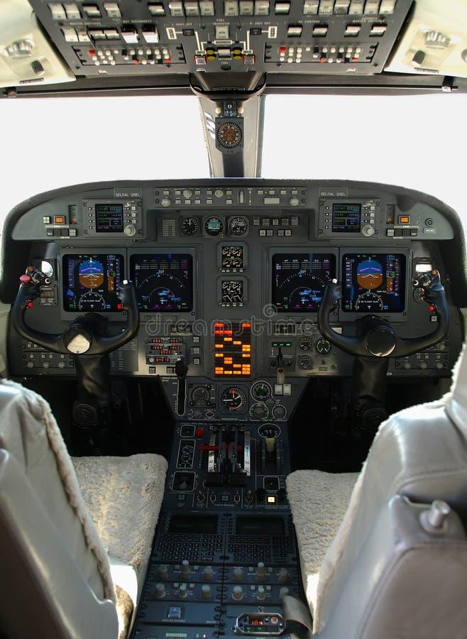 Cabina do piloto de Gulfstream fotos de stock