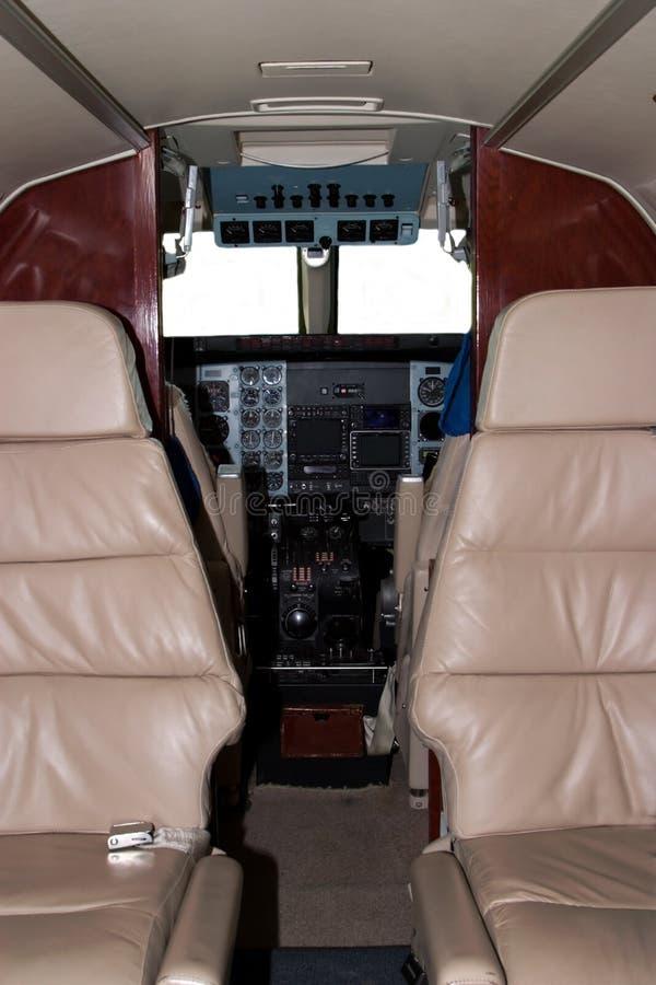 Cabina do piloto do avião fotos de stock royalty free