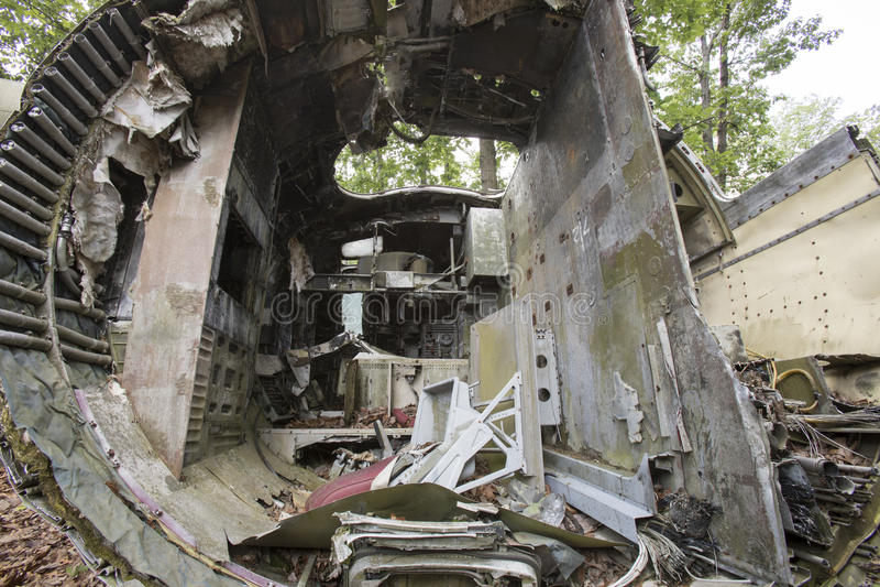 Cabina do piloto do avião deixado de funcionar fotos de stock royalty free