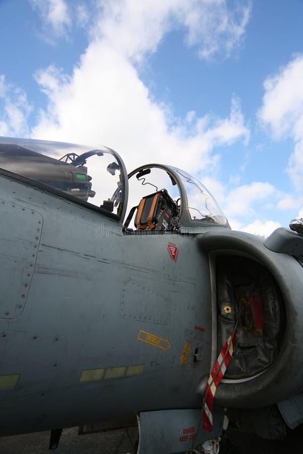 Cabina do piloto do Harrier imagens de stock