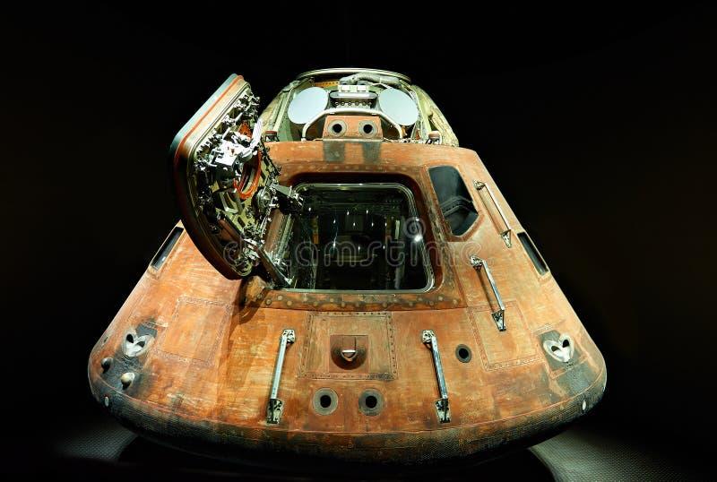Cabina do piloto do navio de espaço fotos de stock